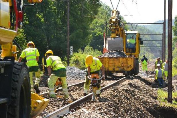 Un train à relever et 700 mètres de voies à réparer à Nassogne