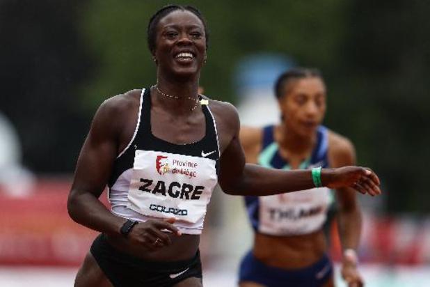 """Meeting international de la Province de Liège - Anne Zagré s'impose sur 100 m haies: """"Je souhaite réaliser mon meilleur chrono à Tokyo"""""""