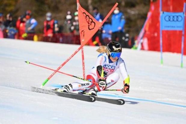 Lara Gut-Behrami skiet naar wereldtitel in reuzenslalom