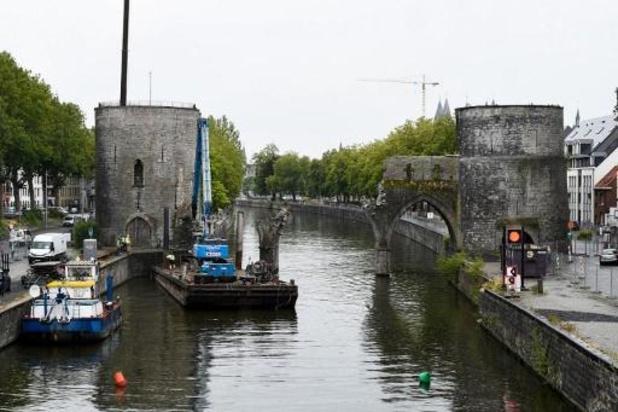Chantier du Pont des Trous: la navigation sur l'Escaut à Tournai interrompue en mars