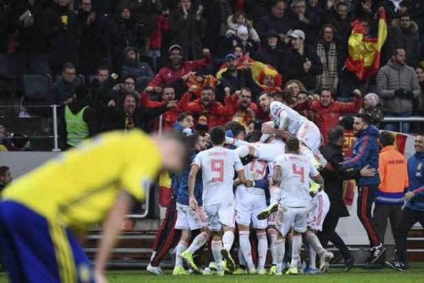 Kwal. EK 2020 - Spanje zeker van kwalificatie na 1-1 gelijkspel in Zweden