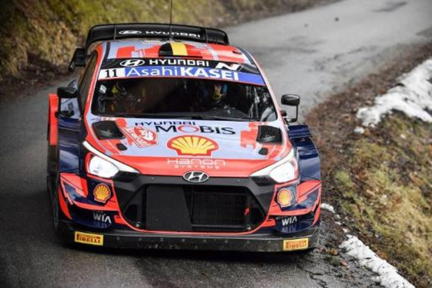 Le Gallois Evans (Toyota Yaris) en tête du Rallye de Monte-Carlo, Thierry Neuville 5e