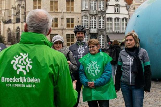 Broederlijk Delen trapt nieuwe campagne letterlijk af in Mechelen