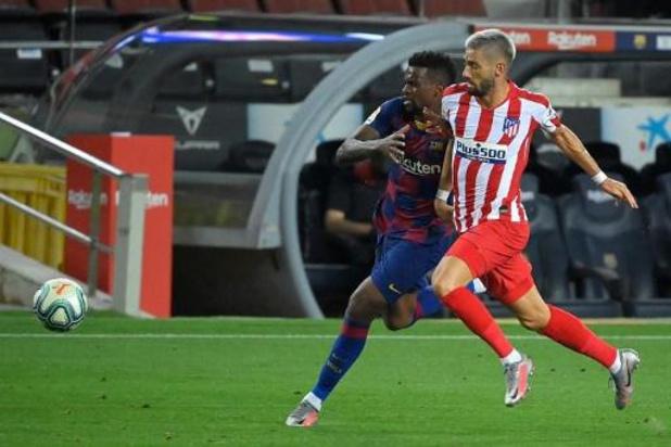 La Liga - Nouveau faux pas de Barcelone, accroché par l'Atlético Madrid d'un très bon Carrasco