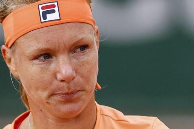 Roland-Garros: Kiki Bertens quitte le court victorieuse mais en fauteuil roulant