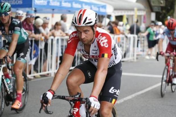 Adam Blythe hangt zijn fiets aan de haak