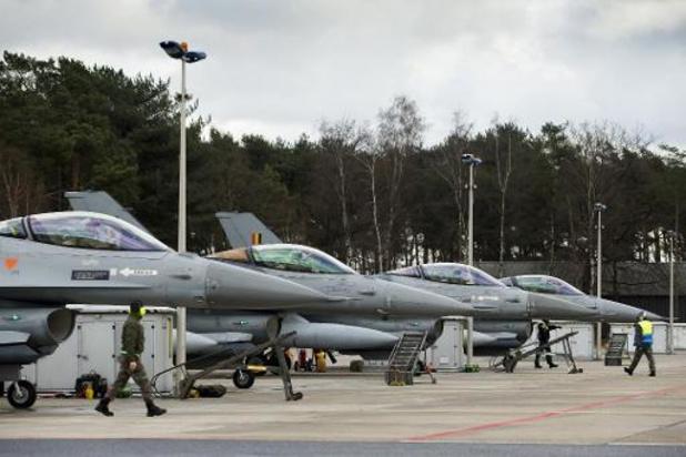 Une photo de l'US Air Force illustre le rôle de l'unité américaine basée à Kleine-Brogel