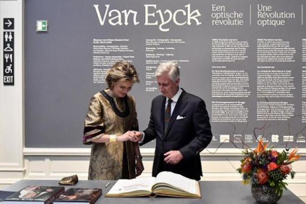 Le couple royal visite l'exposition sur Van Eyck au Musée des Beaux-Arts de Gand