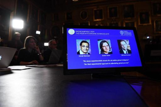 Le prix Nobel d'économie attribué à Abhijit Banerjee, Esther Duflo et Michael Kremer