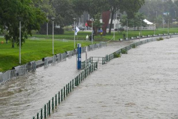 Le niveau de la Meuse continue de grimper à Liège