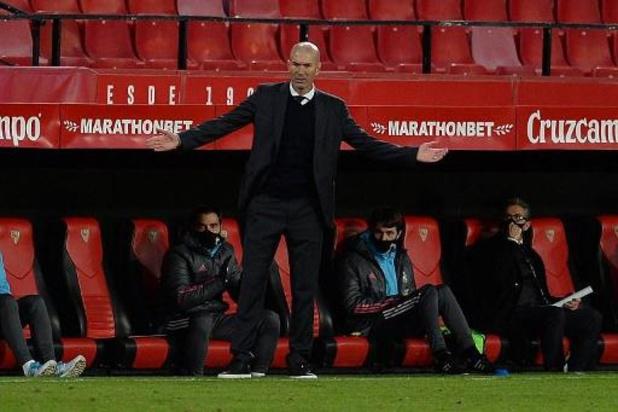 """Zidane a """"apprécié"""" la prestation du Real Madrid"""
