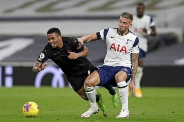 Belgen in het buitenland - Manchester City verliest ook bij Tottenham, waar Alderweireld uitvalt met blessure