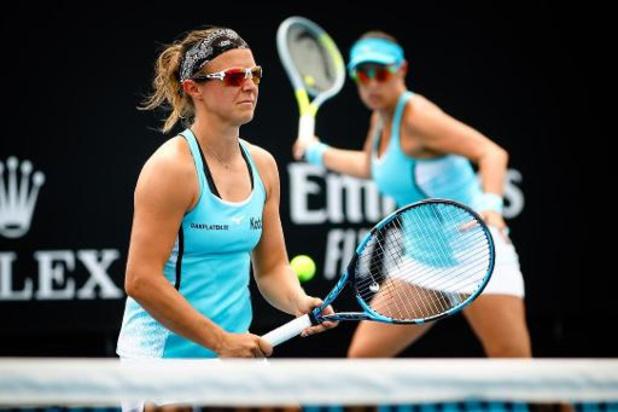 Australian Open - Kirsten Flipkens uitgeschakeld in tweede ronde van dubbelspel
