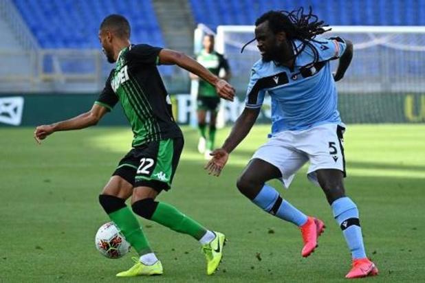 Les Belges à l'étranger - Sassuolo accroche la Juventus, la Lazio avec Jordan Lukaku n'en profite pas