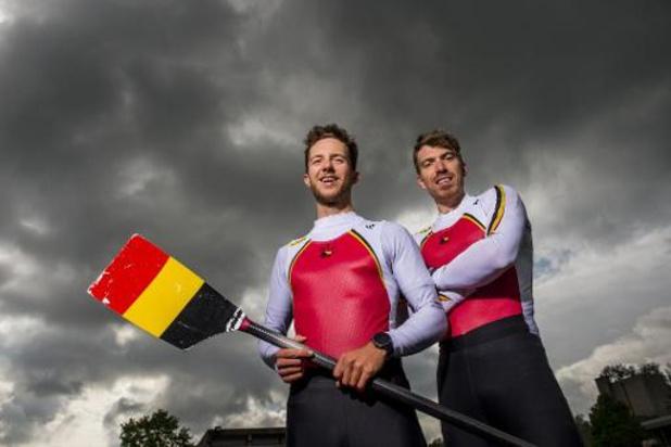 Brys en Van Zandweghe halen, net als in 2019, brons in lichte dubbeltwee EK roeien