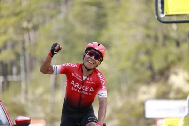 Nairo Quintana, zaterdag nog ritwinnaar in Parijs-Nice, gaat twee weken in quarantaine