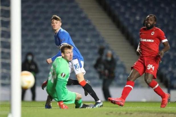 Antwerp moet Europa verlaten na nieuwe nederlaag tegen Rangers