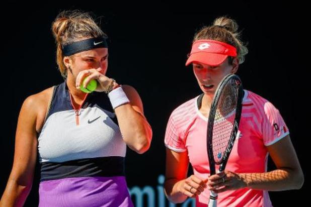 Australian Open - Mertens en Sabalenka naar achtste finales dubbelspel na forfait Brady en Barty