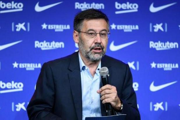 La Liga - Barcelona-voorzitter Bartomeu stapt op