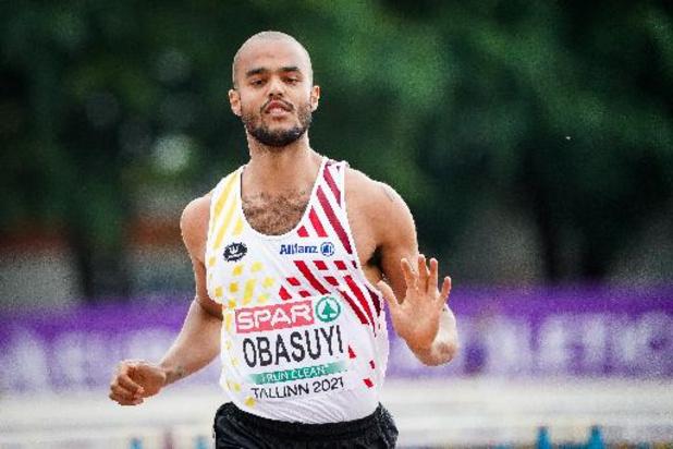 Michael Obasuyi verovert zilver voor België op de 110 meter horden