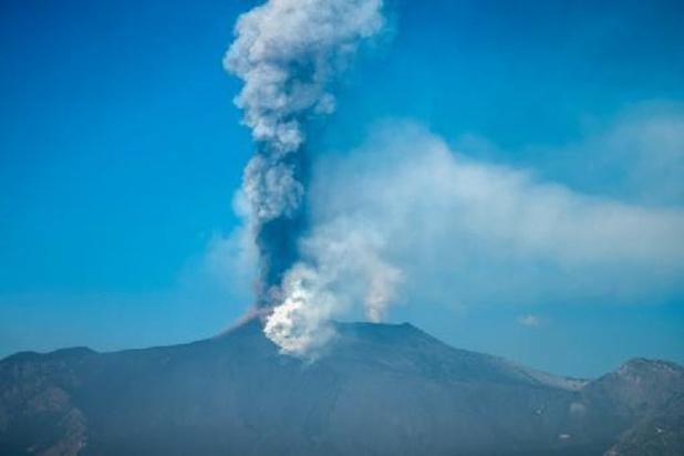 Etna spuwt: geen vluchten meer op luchthaven Catania