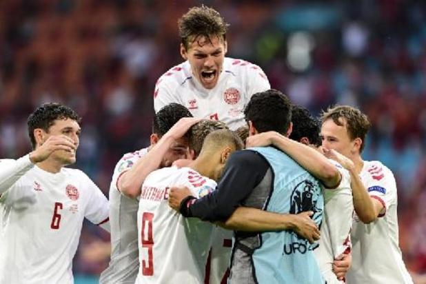 EK 2020 - Denemarken wint vlot van Wales en is eerste kwartfinalist