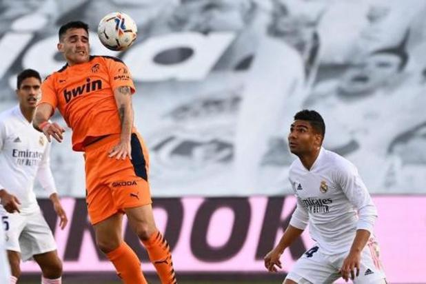 Belgen in het buitenland - Real Madrid houdt de punten thuis tegen zwak Valencia
