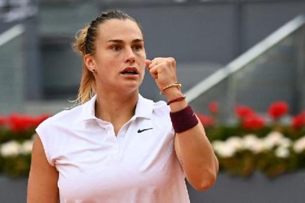WTA Madrid - Sabalenka sacrée après sa victoire sur la N.1 mondiale Barty