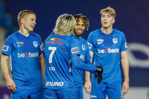 Jupiler Pro League - Genk assomme Eupen (4-0) et revient à un point de l'Antwerp