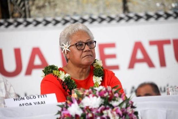 """Samoa: la Première ministre élue """"investie"""" lors d'une cérémonie improvisée"""
