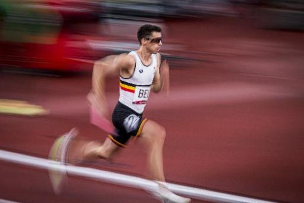 Alexander Doom, Jonathan Sacoor, Dylan Borlée et Jonathan Borlée pour le relais 4X400m