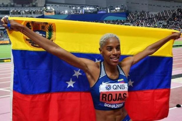 WK atletiek - Yulimar Rojas verlengt wereldtitel hink-stap-springen