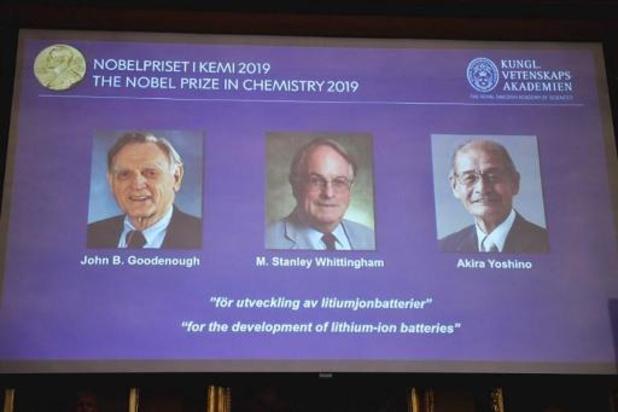 Nobelprijs Chemie voor ontwikkelaars van lithiumionbatterijen