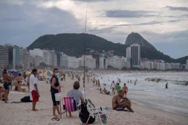 Brésil: les plages de Rio fermées ce week-end