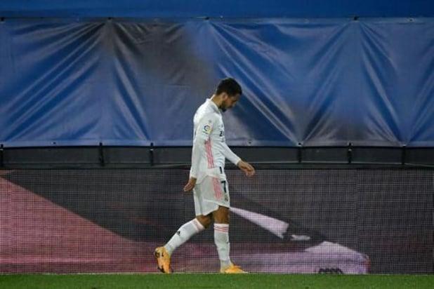 """Les Belges à l'étranger - Eden Hazard remplacé à la 28e minute contre Alavés, victime d'un """"coup"""" selon Zidane"""