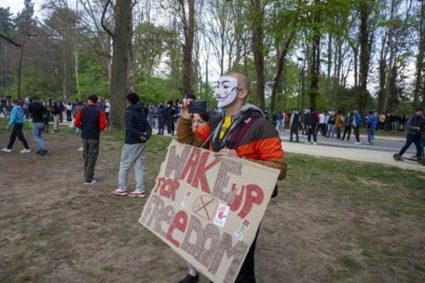 La Boum 3 en European Manifestation for Freedom palmen zaterdag Ter Kamerenbos in