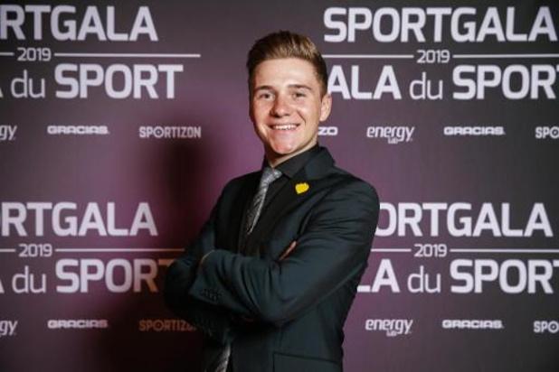 """Gala du Sport 2019 - Remco Evenepoel élu plus jeune Sportif belge de l'année: """"Je n'ai pas de mots"""""""