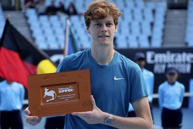 ATP Great Ocean Road Open - Jannik Sinner heeft tweede ATP-titel beet