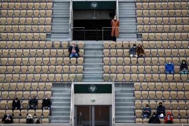 Roland-Garros: jusqu'à 5.388 spectateurs par jour jusqu'au 8 juin puis 13.146
