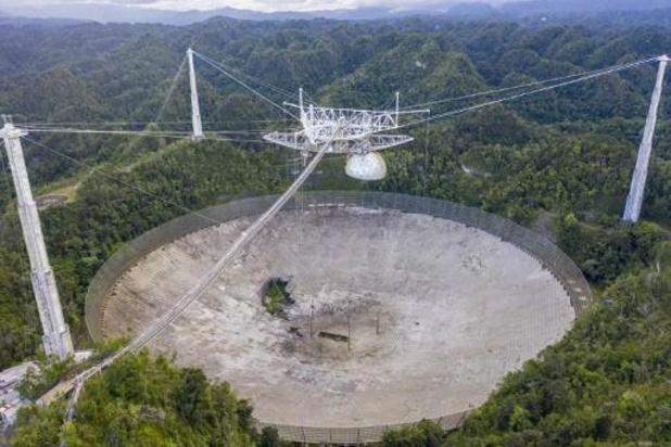 Triste nouvelle pour les astronomes: le téléscope géant d'Arecibo va être démoli