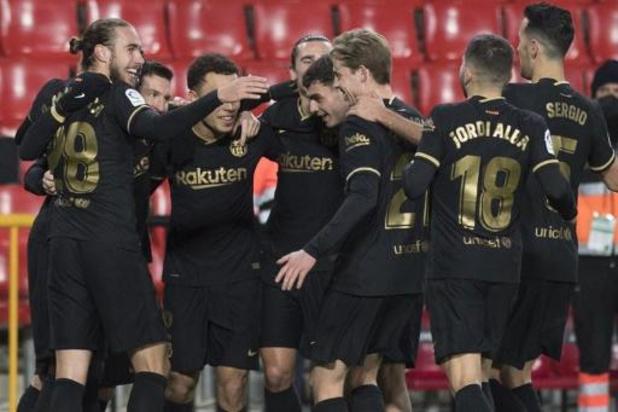 La Liga - Barcelona wint vlot bij Granada, Griezmann en Messi klaren de klus