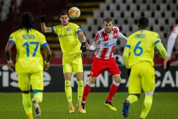 Europa League - La Gantoise s'incline 2-1 à l'Etoile Rouge de Belgrade et reste dernier du groupe L
