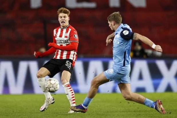 Belgen in het buitenland - PSV, met Yorbe Vertessen voor het eerst in de basis, geraakt niet voorbij ADO