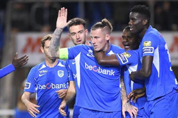 Jupiler Pro League - Le Racing Genk intègre le top-6 après sa victoire au forceps face au Cercle de Bruges