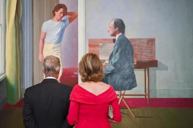 Bozar opent dubbelexpo David Hockney onder goedkeurend oog van Belgisch koningspaar