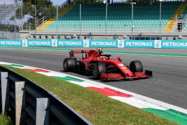 F1 - GP van Italië: race tijdelijk stilgelegd na zware crash van Leclerc