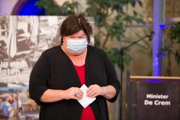 La ministre de la Santé Maggie De Block souhaite que le CNS se réunisse plus tôt