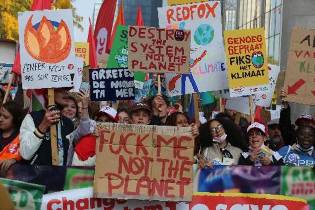 Klimaatmars: Zowat 25.000 manifestanten eisen in Brussel meer actie voor het klimaat