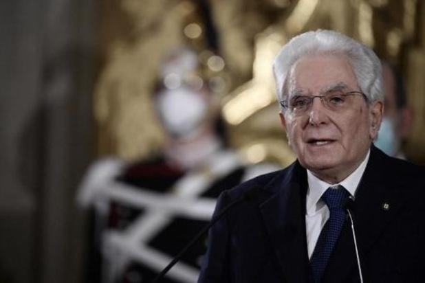 """Italiaanse president veroordeelt """"laffe aanval"""""""