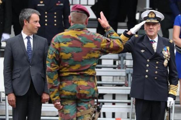 L'amiral Hofman investi comme chef de la Défense (Chod) pour un mandat de quatre ans